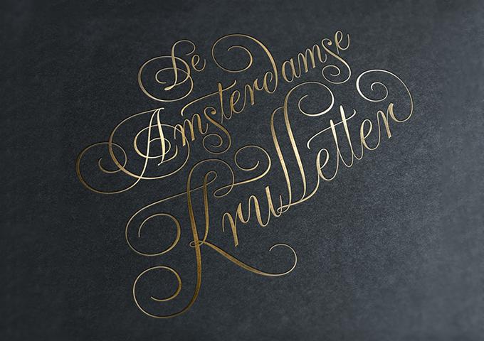 Незаслуженно забытая история шрифта Amsterdamse Krulletter